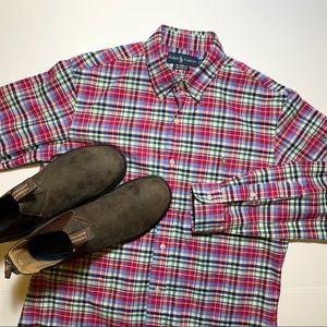 RALPH LAUREN Custom Fit Casual Shirt Mens Medium